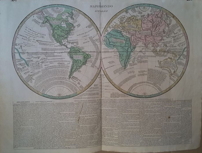 World map - Le Sage - Historic world map - Florence - 1813
