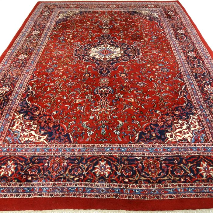 Kashan - 350 x 247 cm - 'Extra large oriental carpet in beautiful condition' - with certificate