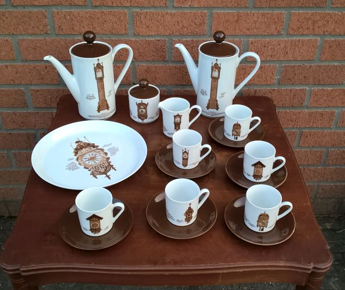 Vintage German porcelain coffee set Mitterteich