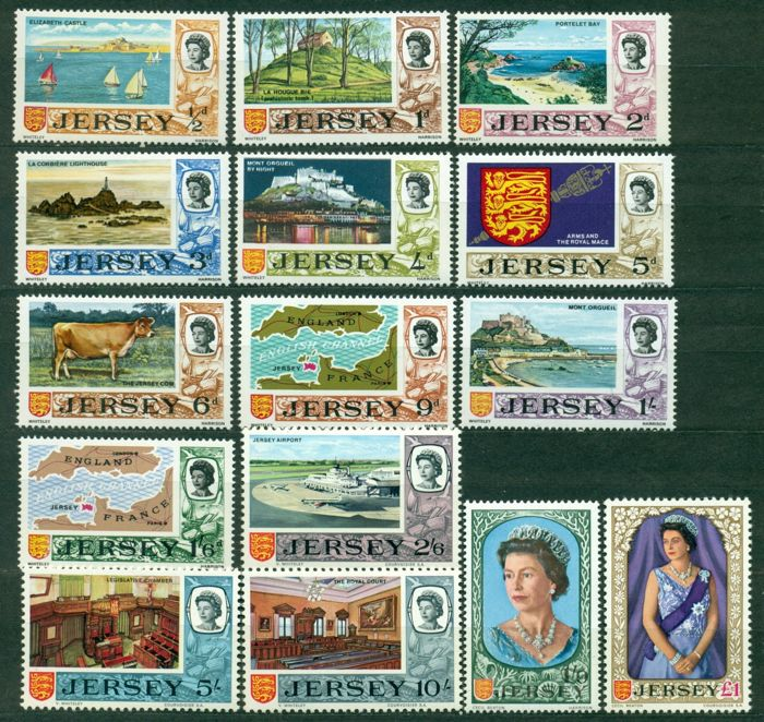 Channel Islands and Gibraltar 1953/2001 - Collection of 1080 stamps, 18 minisheets and booklets