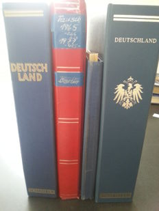 Federal Republic of Germany, German Reich and GDR 1880/1980 - Batch of various material in stock books and two albums