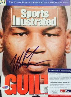 Mike Tyson /  Original Signed Iconic Sports Illustrated Magazine - with Certificate of Authenticity PSA/DNA