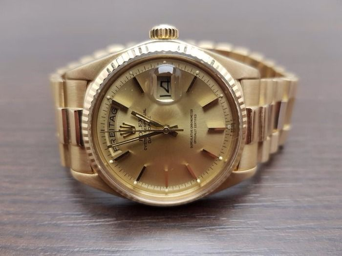 Rolex Oyster Perpetual Day-Date President 18k yellow gold with box!