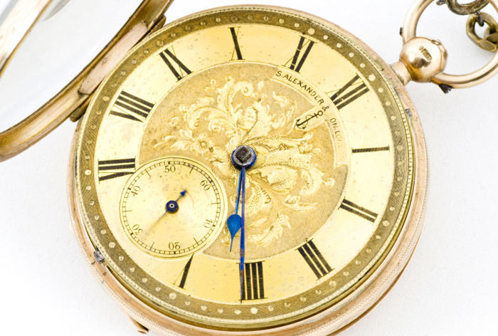 S. Alexander & Son. London – Lepin half-fusee pocket watch – High collection, year 1917