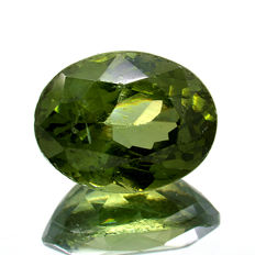 Green Zircon - 1.28 ct - No Reserve Price