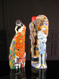 Gustav Klimt Mouseion - 2 Sculptures Hope & Three Stages of Woman
