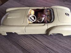Michael Seidel, Western Germany - L. 26 cm - plate Mercedes Benz 190SL with friction drive, 50s