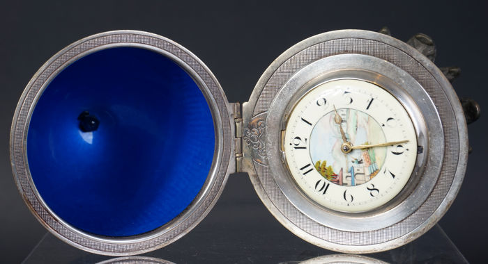 Hayward fusee verge escapement movement pocket watch in a table model, around 1850