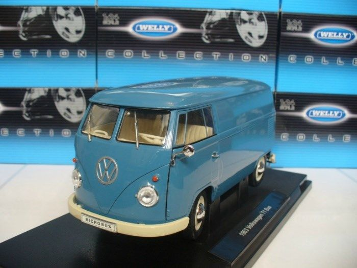 Welly - Scale 1/18 - Volkswagen T1 micro of 1963 - Blue