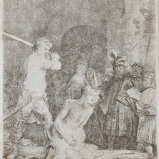 Rembrandt van Rijn (1606-1669) - beheading of John the Baptist - Later print from around1825