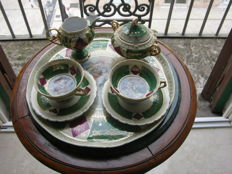 Coffee set - Royal Vienna style - F.Boucher hand painted