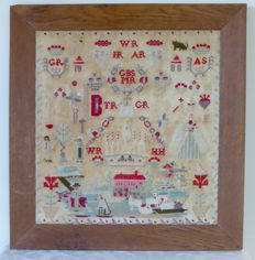 Antique sampler - The Netherlands - 1888