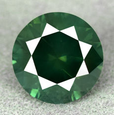 Blue Green Diamond - 1.16ct