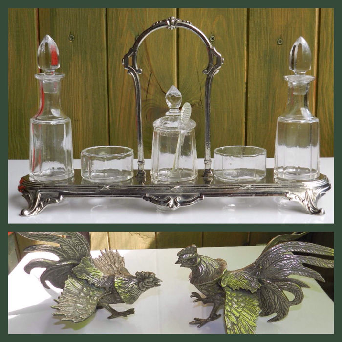 Condiments set - Orfèverie Dilecta - Art Nouveau and table pieces