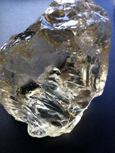 Natural Untreated Brazilian Citrine Rough - 10.8 x 9.53 cm - 2066.68 ct