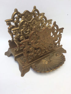 Art Nouveau style letter stand, early 20th century