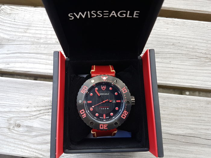 Swiss Eagle Abyss Swiss Made - XXL Duikers horloge - 2017 - 100 ATM