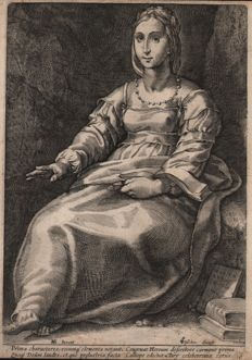 Hendrick Goltzius (1558-1617) by Anonymous - Calliope the Muse of Poetry - 1592