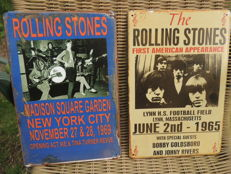 "Stunning Lot "" Rolling Stones "" Memorial - Special Rolling Stones Watch With Special Stones Mojo Magazine - Two Rolling Stones Metal memorial Signs - Stones In Madison Square And First American Appearance -"