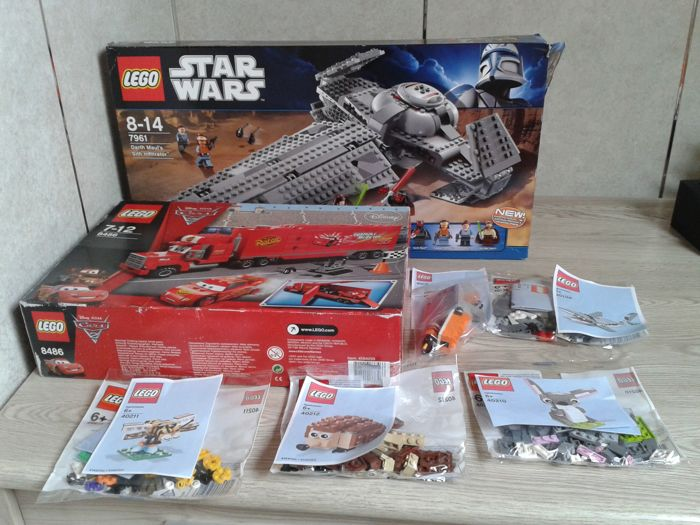 Star Wars/Cars/Lego Brand Store - 7961, 8486, 40210, 40211, 40212, 40218, 40136 - incl. Darth Maul's Sith Infiltrator, Cars Mack's Team Truck