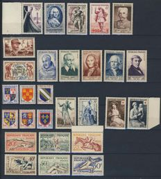 France, years: 1953-1955 - The 3 complete years - Yvert 940 to 1049.