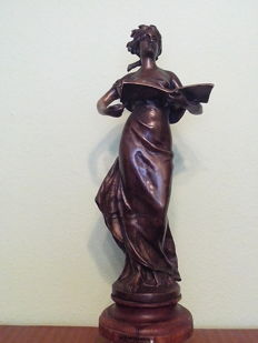Bronze sculpture - signed by the brothers L & F Moreau