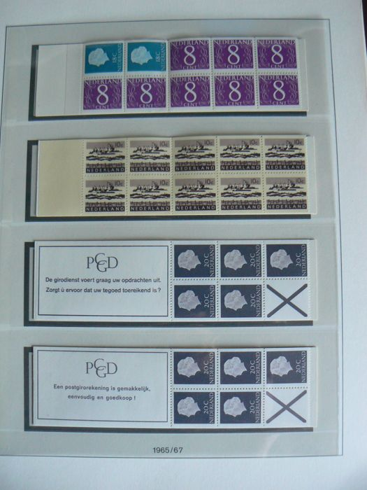 The Netherlands 1964/1994 – Collection of stamp booklets in LIndner T album.