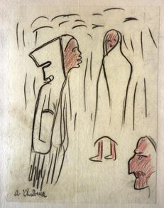 Auguste Chabaud (1882-1955) - Trois Arabes