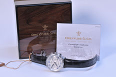 Dreyfuss & Co - Chronograph - ref.: DGS000094 - men's watch - chromed case - never worn, new condition - 808 - 2017