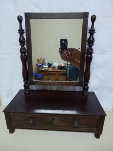 Dressing Table Mirror with a drawer, Portugal, 1920´s,