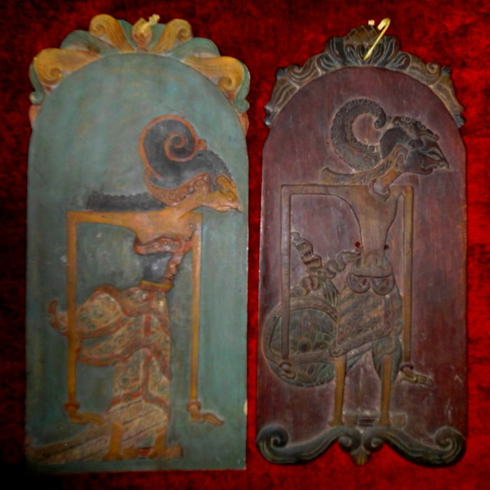 Two Blawong Keris panels – Java, Indonesia