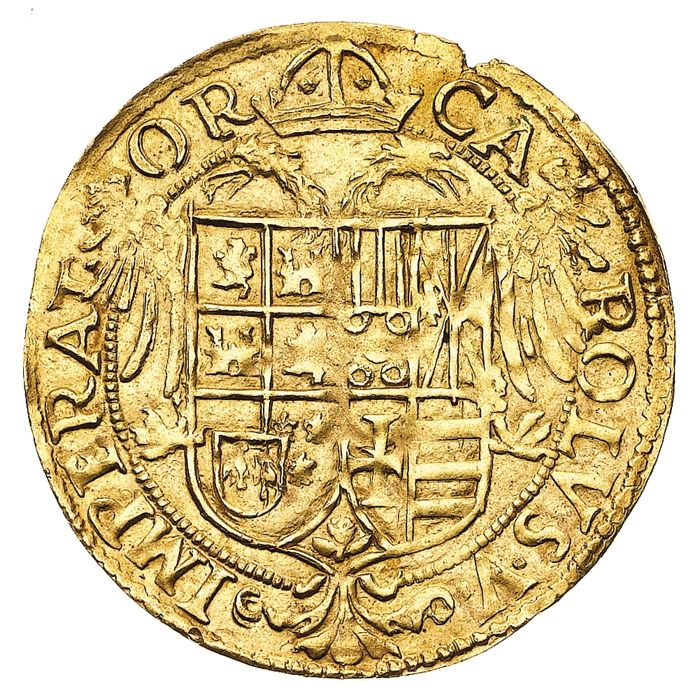 Kingdom of Naples – Gold scudo – Carlo V (1516-1556) – Gold