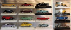 "Solido - Scale 1/43 - 16 x Series ""Age d'or"" models '50s and '60s, production 1986 - 1989 (including 4 x special edition)"