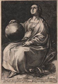 Hendrick Goltzius (1558-1617) by Anonymous - Urania the Muse of Astronomy - 1592 or later