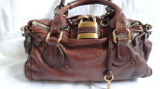 Chloe Paddington leather hand bag dark brown