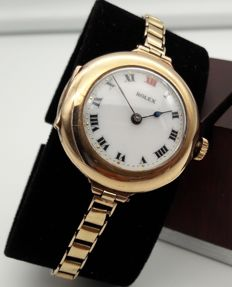 Rolex Lady Vintage Art Deco in 9 kt gold, year 1917 (Dennison)