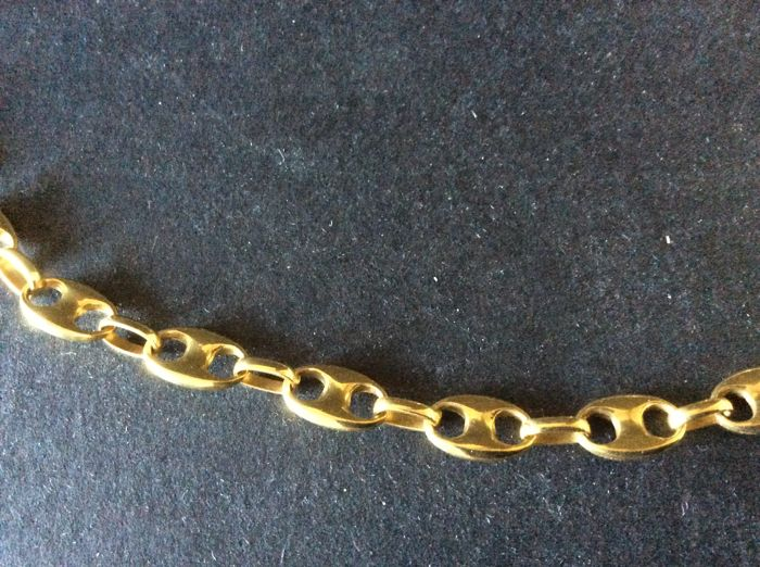 Necklace with marine links in 750 gold Italy