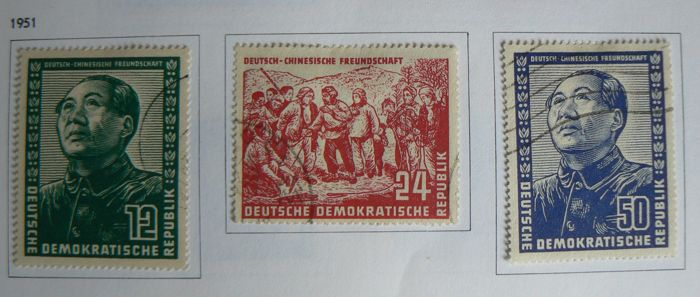 East Germany GDR 1949/1990 – Collection in two Davo albums with case