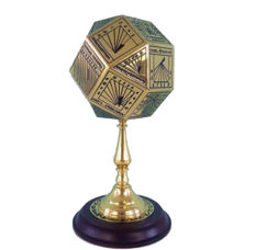 Franklin Mint - Polyhedral sundial after a 15th century model, 24K gold-plated