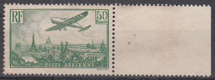 France 1936 - 'Airplane above Paris' airmail - Yvert no. 14