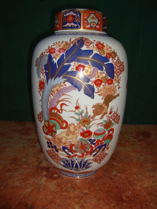 Second Half of 20th Century Vista Alegre Large Imari Motif Large Pot