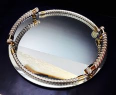 Mirror dish 24 carat gold plated