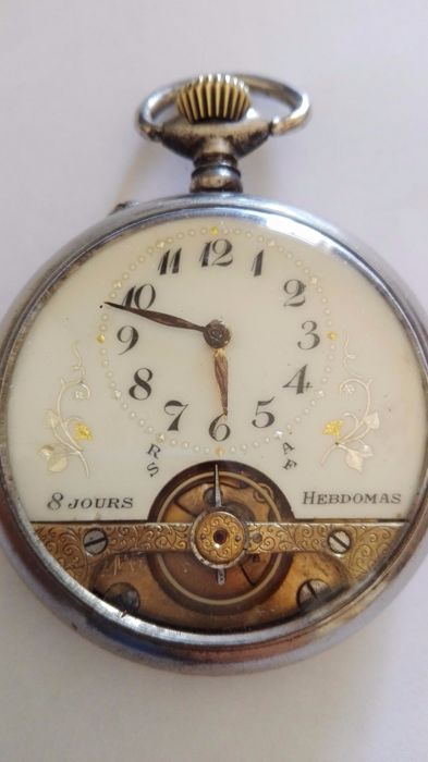 Hebdomas 8-day pocket watch, circa 20th century
