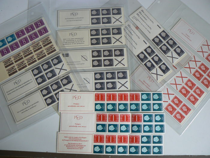 The Netherlands 1965/1971 – Selection machine stamps and approx. 50 suspension booklets