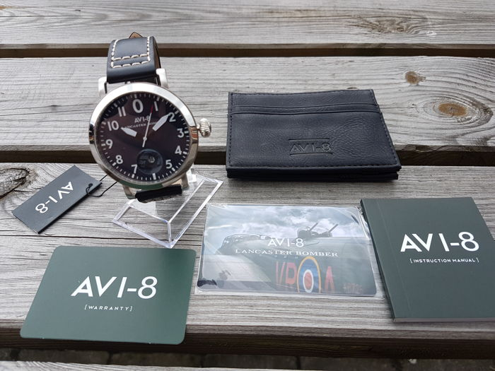 AVI-8 Lancaster Bomber incl card holder – Aviator watch – Never worn – 2017