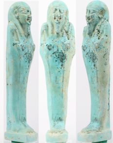 Egyptian Shabti of Pa-scheri-en-Ptah, born by Nes-Mut - ca. 12,8 cm c. 5,04 inches