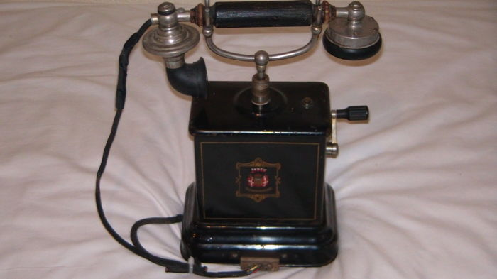 Jydsk telephone - 1904 - Denmark - manufactured by Emil Møllers