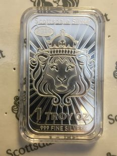 USA - $2 - Niue - Scottsdale Mint - lion 2014 - Coinbar - Mint guard - 999 silver bars - Edition only 350,000 pieces