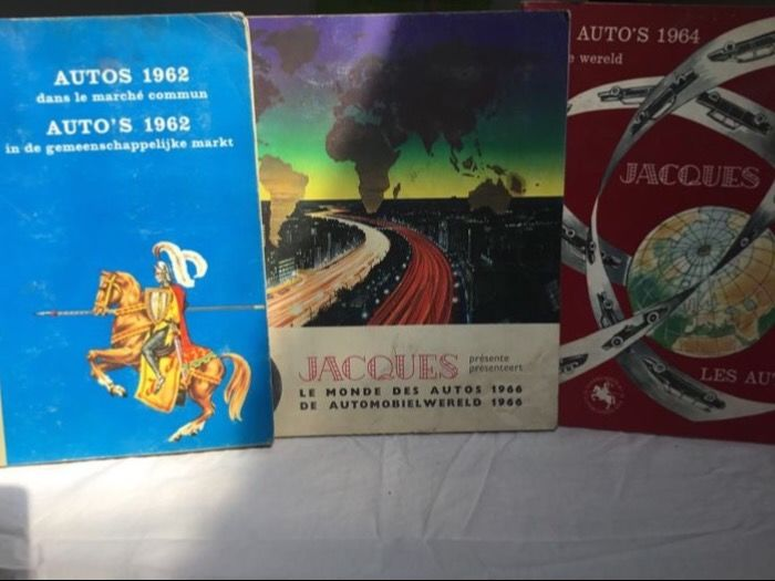 3x Jacques Le Monde des autos 1962, 64 and 66.