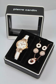 Pierre Cardin – Women's watch – Necklace and earrings – Gift set – Brand new, unworn.